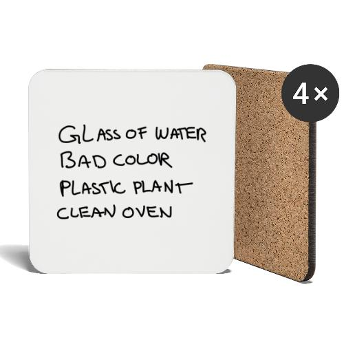 Glass Color Plastic Oven - Coasters (set of 4)