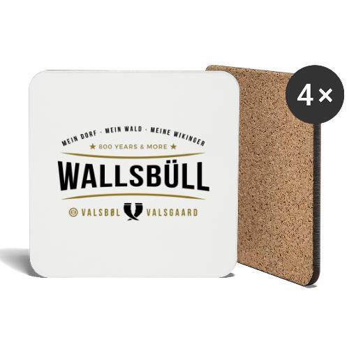 Wallsbüll - mein Dorf, mein Wald, meine Wikinger - Untersetzer (4er-Set)
