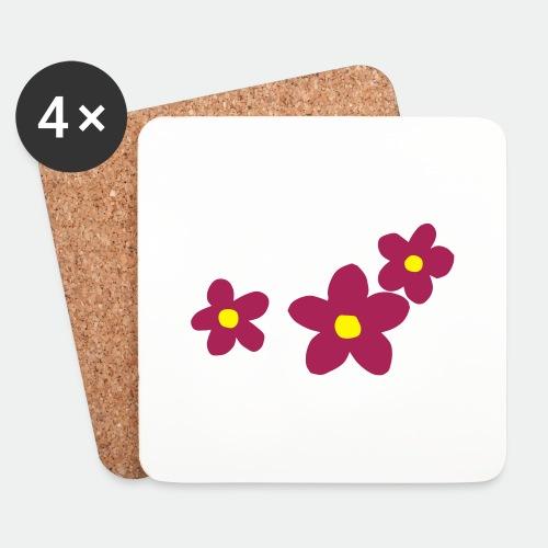 Three Flowers - Coasters (set of 4)