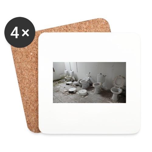 Toilets - Glasbrikker (sæt med 4 stk.)