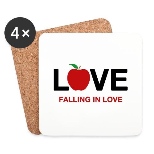 Falling in Love - Black - Coasters (set of 4)