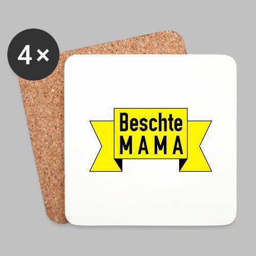 Beschte Mama - Auf Spruchband - Untersetzer (4er-Set)