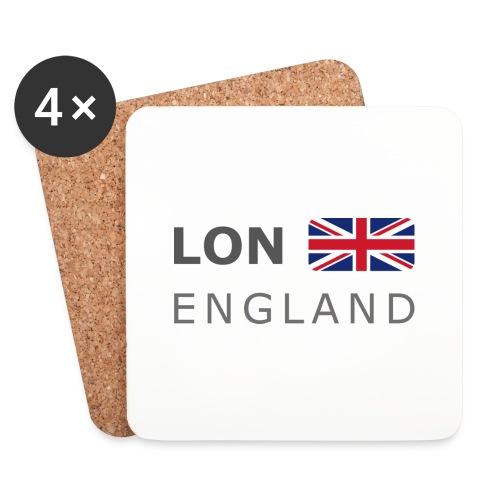 LON ENGLAND BF dark-lettered 400 dpi - Coasters (set of 4)