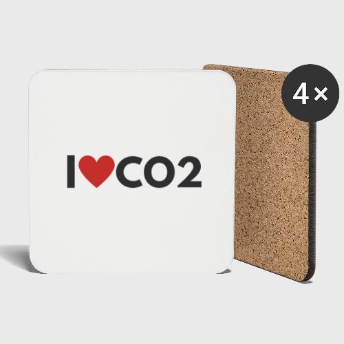 I LOVE CO2 - Lasinalustat (4 kpl:n setti)