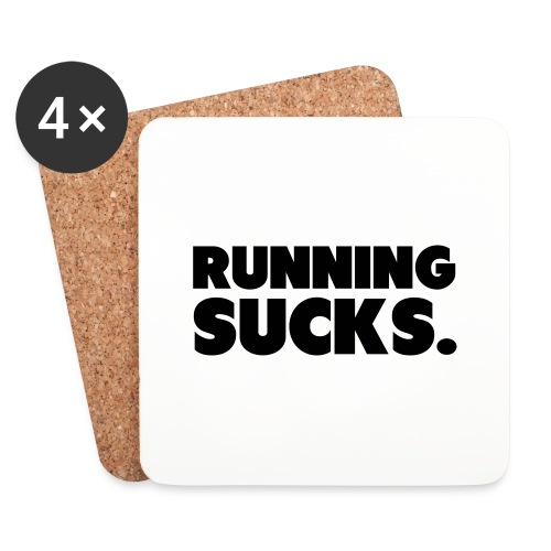 Running Sucks - Lasinalustat (4 kpl:n setti)