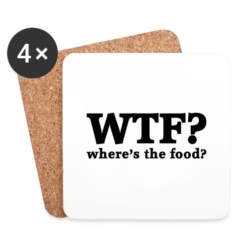 WTF - Where's the food? - Onderzetters (4 stuks)
