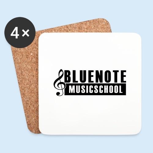 Bluenote Musicschool Logo Schwarz/Weiss - Untersetzer (4er-Set)