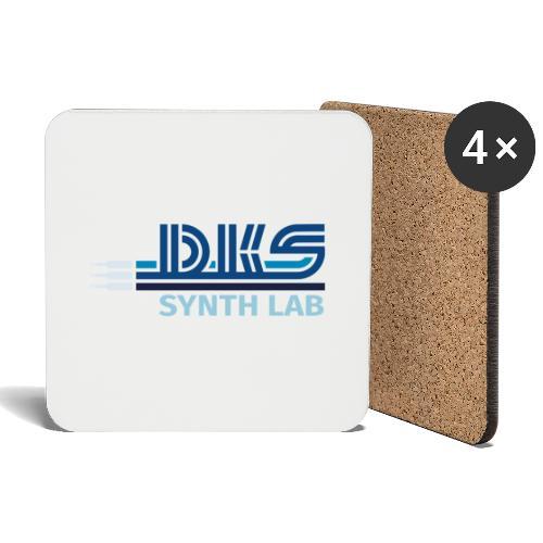 DKS SYNTH LAB Flat Blue - Sottobicchieri (set da 4 pezzi)