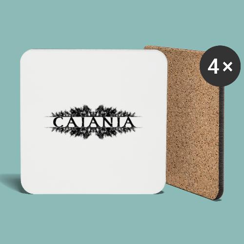 Caiania-logo musta - Lasinalustat (4 kpl:n setti)