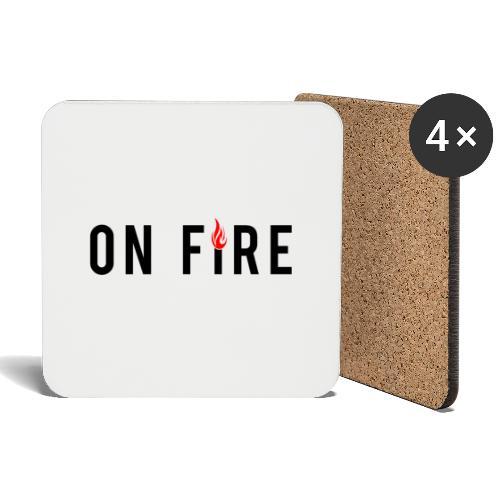on fire - Untersetzer (4er-Set)