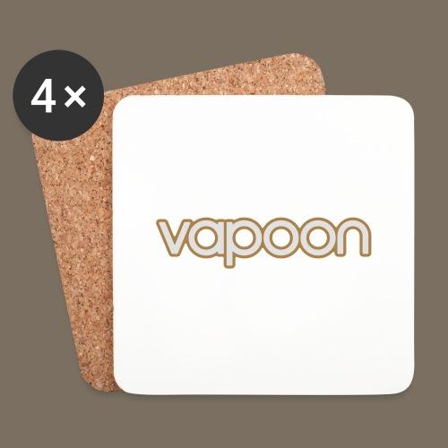 Vapoon Logo simpel 2 Farb - Untersetzer (4er-Set)