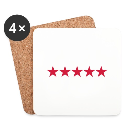 Rating stars - Lasinalustat (4 kpl:n setti)