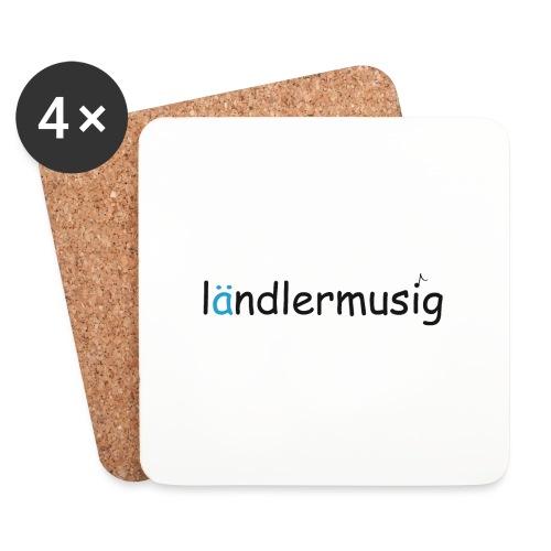 ländlermusig schwarz/blau - Untersetzer (4er-Set)