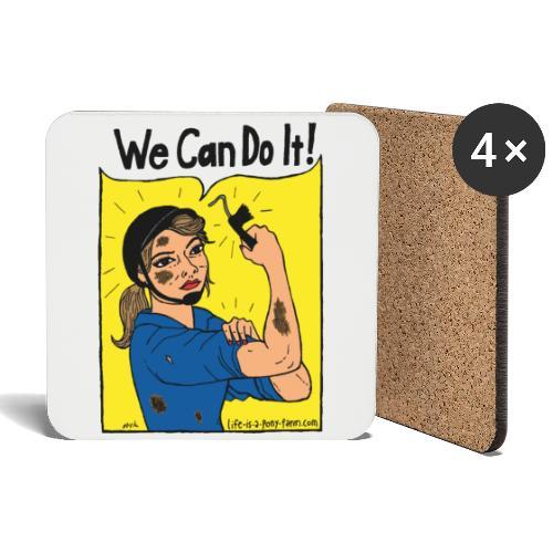 We Can Do It! - Lasinalustat (4 kpl:n setti)