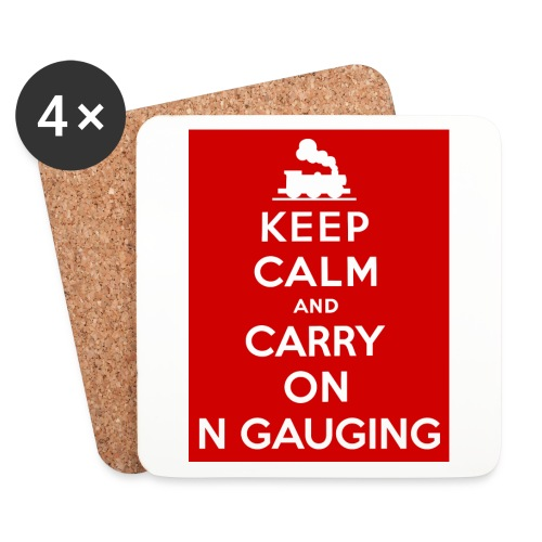 Keep Calm And Carry On N Gauging - Coasters (set of 4)