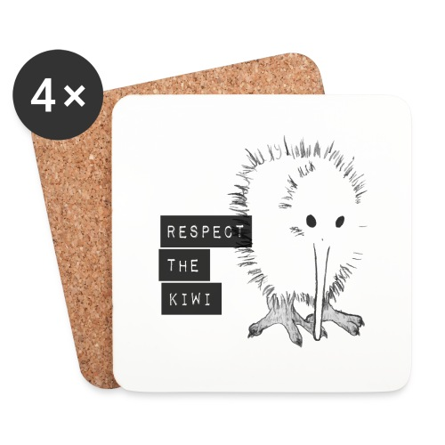 Respect the Kiwi - Untersetzer (4er-Set)