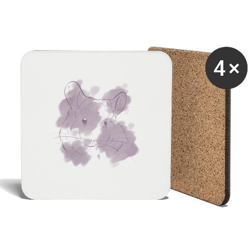 Violet splash chinchilla 2 - Lasinalustat (4 kpl:n setti)