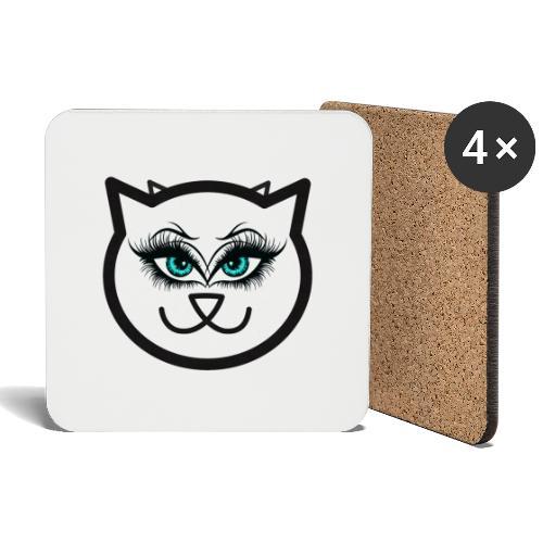 Hipster Cat Girl by T-shirt chic et choc - Dessous de verre (lot de 4)