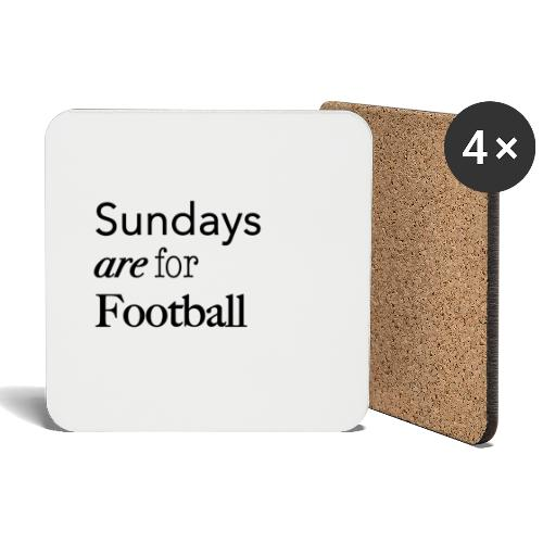 Sundays are for Football - Onderzetters (4 stuks)