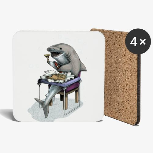 Shark's Fish and Chip dinner - Coasters (set of 4)