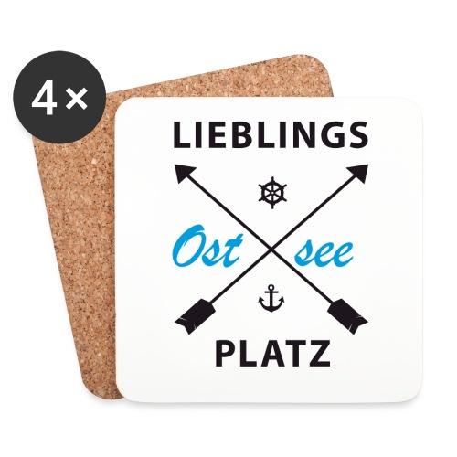 Lieblingsplatz Ostsee - Untersetzer (4er-Set)
