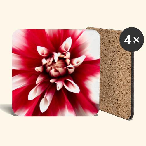 Dahlienblüte, Blume, Blüte, foral, blumig, Blumen - Untersetzer (4er-Set)