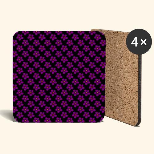 violette Blumen, Blüten, floral, blumig, violett - Untersetzer (4er-Set)