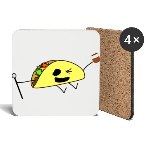 Fancy Taco med en kaffe - Underlägg (4-pack)