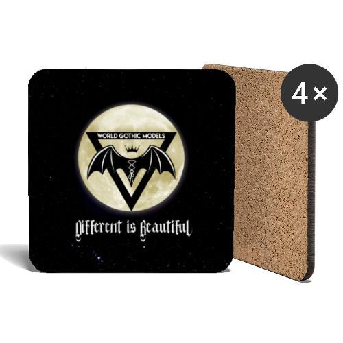 WGM Logo & Different is Beautiful Night Version - Coasters (set of 4)