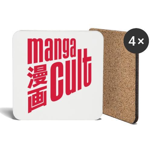 Manga Cult Logo Rot - Untersetzer (4er-Set)