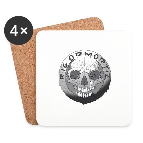 Rigormortiz Black and White Design - Coasters (set of 4)