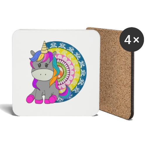 Unicorno Mandala - Sottobicchieri (set da 4 pezzi)