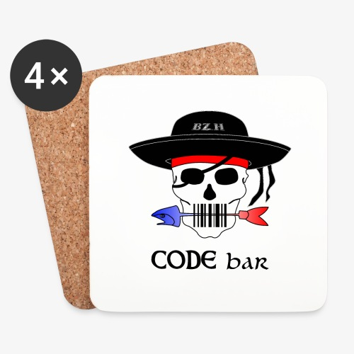 Code Bar couleur - Dessous de verre (lot de 4)