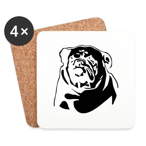 English Bulldog - negative - Lasinalustat (4 kpl:n setti)