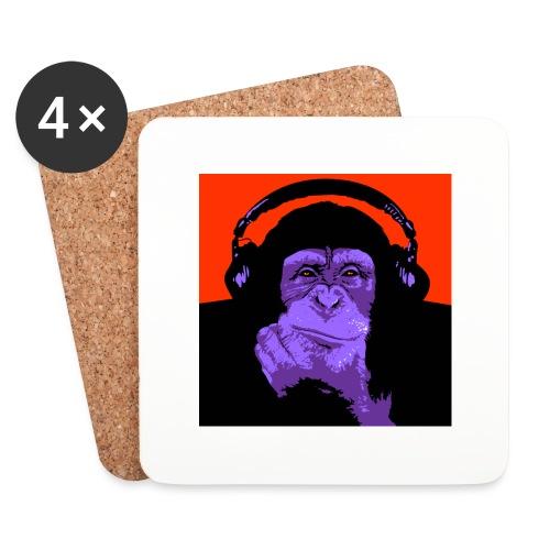 project dj monkey - Onderzetters (4 stuks)