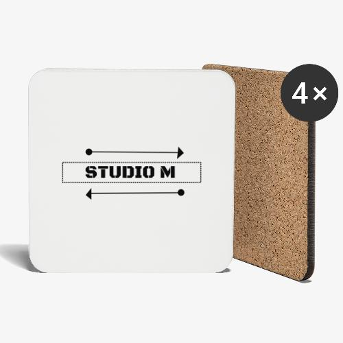 Studio M (negro) - Posavasos (juego de 4)