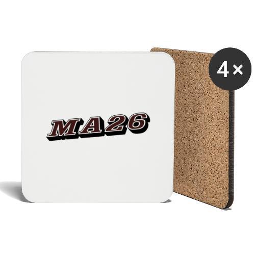 Logo MA26 texto - Posavasos (juego de 4)