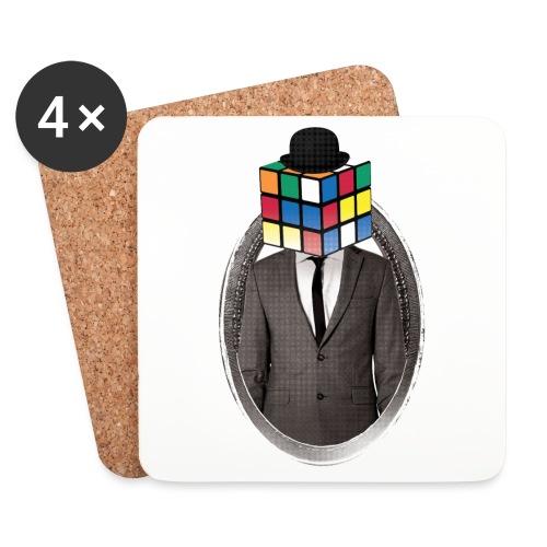 Rubik's Cube Portrait - Coasters (set of 4)