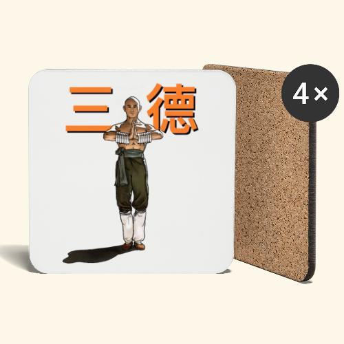 Gordon Liu - San Te - Monk (officiel) 9 prikker - Glasbrikker (sæt med 4 stk.)