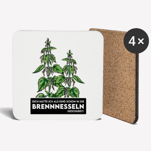 Brennnesselschubser - Untersetzer (4er-Set)