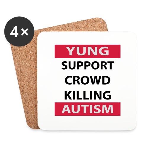 Crowdkill - Onderzetters (4 stuks)