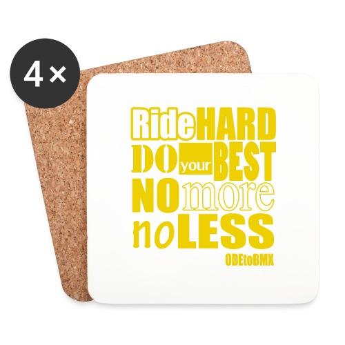 ridehard yellow - Coasters (set of 4)
