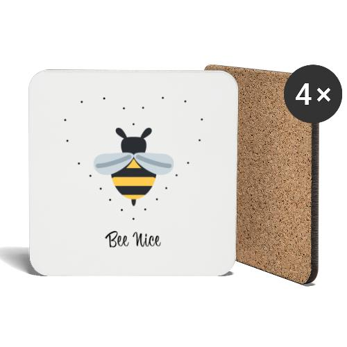 Bee Nice - Save the bees! - Untersetzer (4er-Set)