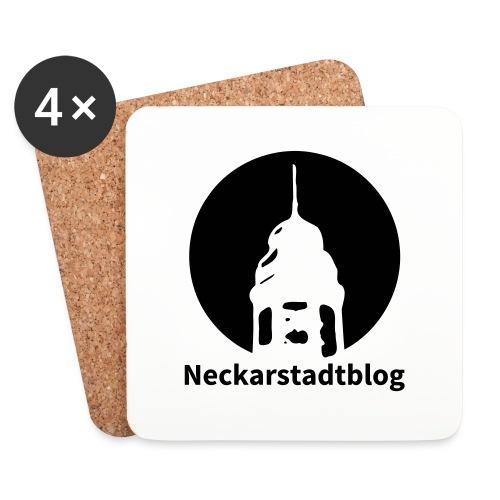 Logo mit Schriftzug invertiert - Untersetzer (4er-Set)