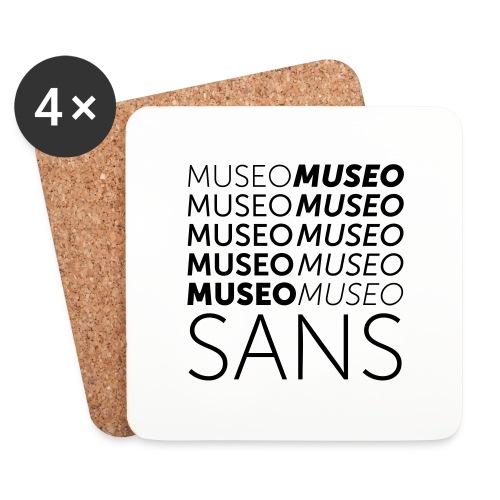 museo sans - Coasters (set of 4)