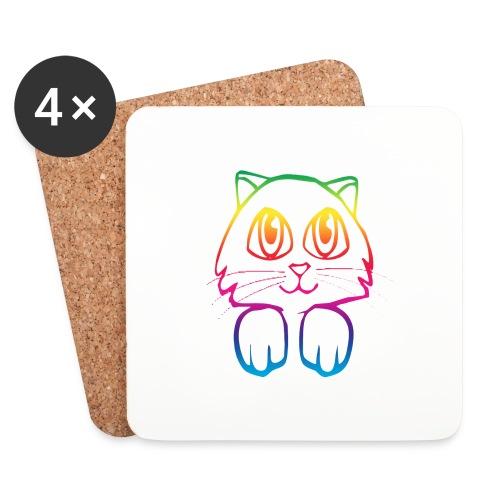 rainbow_pussy - Coasters (set of 4)