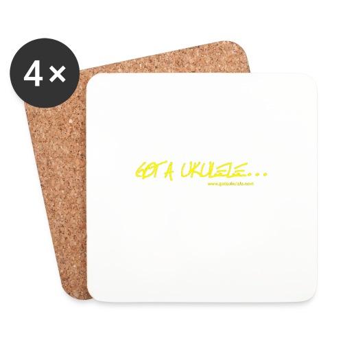 Official Got A Ukulele website t shirt design - Coasters (set of 4)
