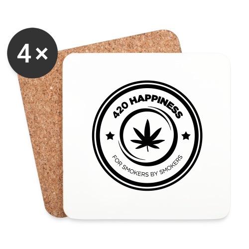 420_Happiness_logo - Glasbrikker (sæt med 4 stk.)