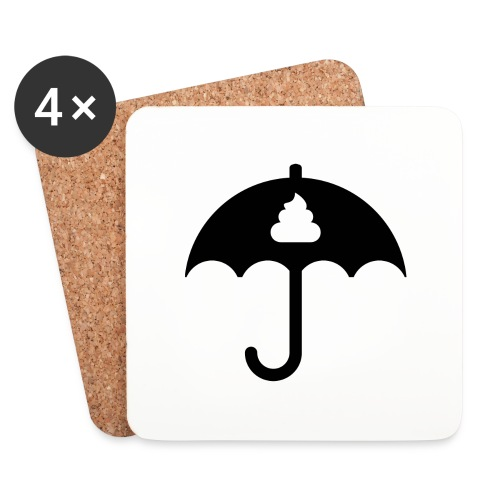 Shit icon Black png - Coasters (set of 4)