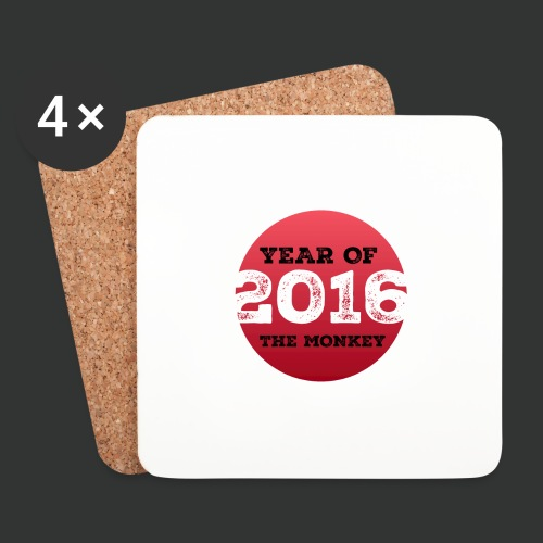 2016 year of the monkey - Coasters (set of 4)